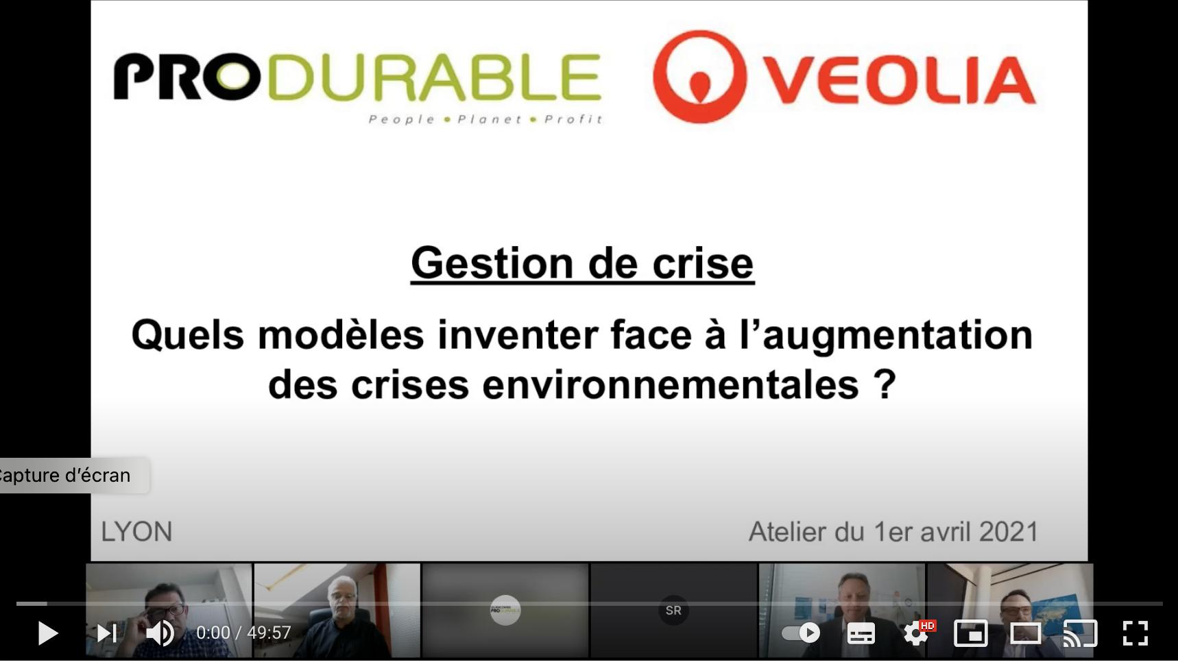 Gestion de crise environnementale : un webinaire avec Veolia sur la manière d'agir